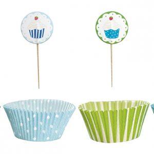 Cupcake Set blau
