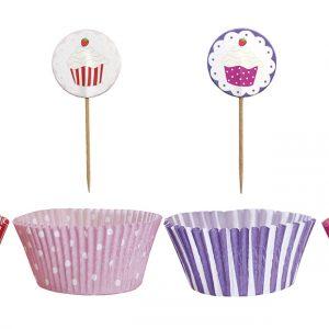 Cupcake Set Pink