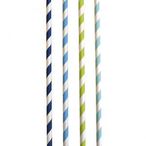 Trinkhalme Blau